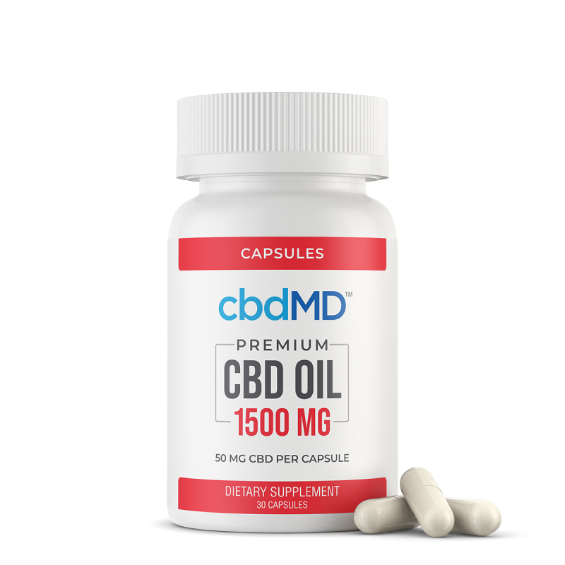 CBD Oil Capsules - 1500mg - 30 Count