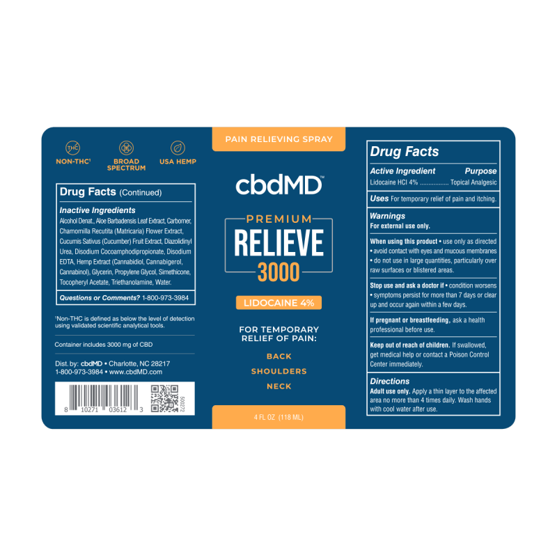 NEW CBD Relieve 3000mg