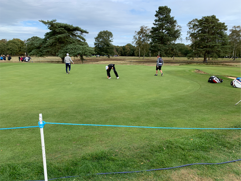 General Blue Poly Rope used at the British Masters at Walton Heath Golf Club in October 2018.