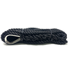 Black Pre-Spliced Three Strand Mooring Lines with Thimble Eye
