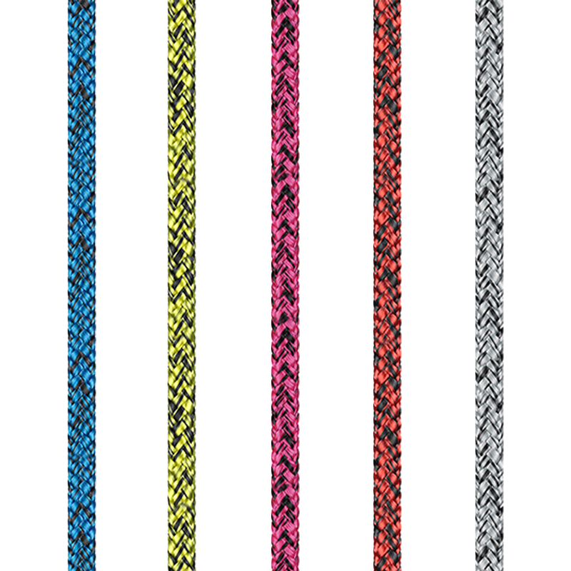 Dinghy Dyneema Rope - Blue, Yellow, Pink, Red, Silver