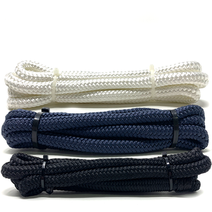 Double Braid Fender Lines with Pre-Spliced Loop available in Black, Navy and White