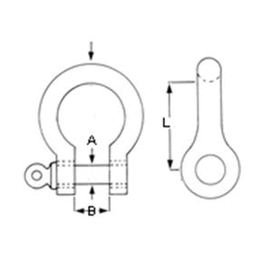 Galvanised Bow Shackle Diagram