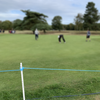 Blue Polypropylene Rope in use at the British Masters in October 2018.