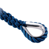 Blue Three Strand Rope Stainless Steel Thimble