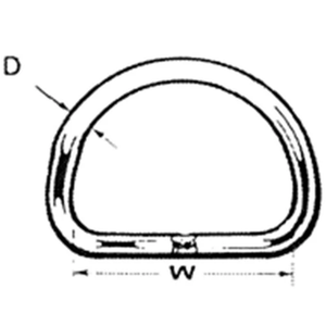 Stainless Steel D Ring Diagram