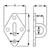 Stainless Steel Diamond Eye Plate Diagram