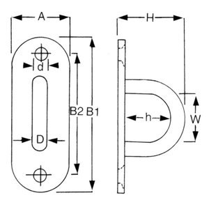 Stainless Steel Long Eye Plate Diagram