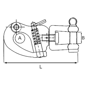 Stainless Steel Snap Shackle Swivel. Fk Diagram