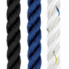 Three Strand UV Stabilized Nylon Rope available in Black, Navy and White