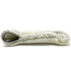 White Pre-Spliced Three Strand Mooring Lines with Thimble Eye