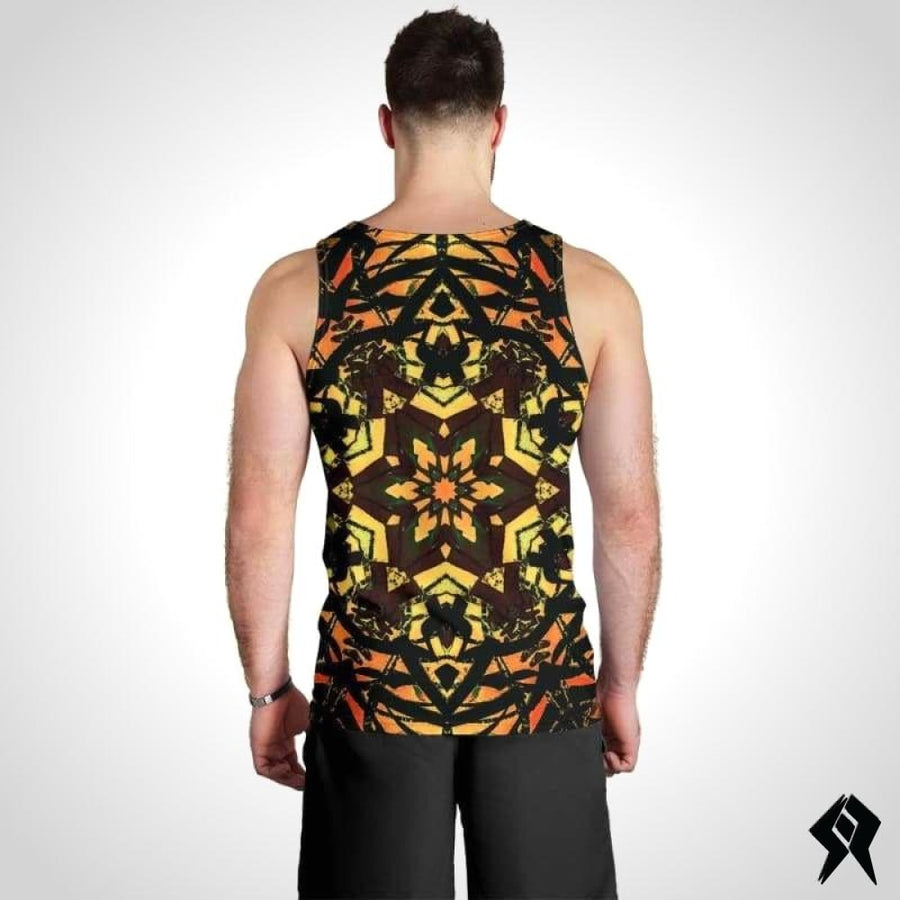 Debardeur Homme Orange Artwork - Syko Rave