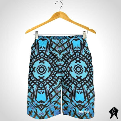 Short Homme Blue Artwork - Syko Rave