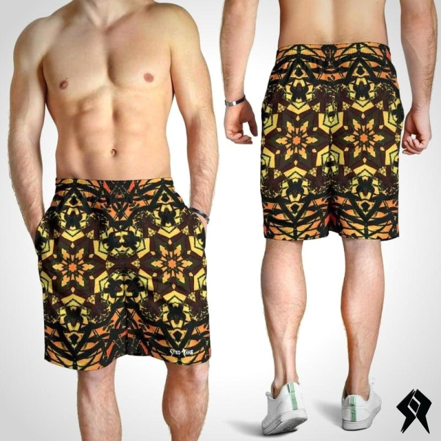 Short Homme Orange Artwork - Syko Rave
