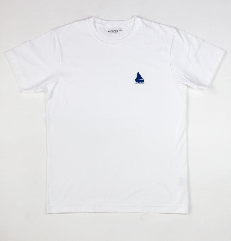 Easy boat, pocket print, by Groovink on Groovink t-shirt