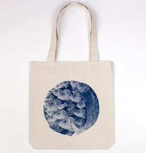 Sgombri, by Giacomo Bagnara, on a heavy and recycled tote bag