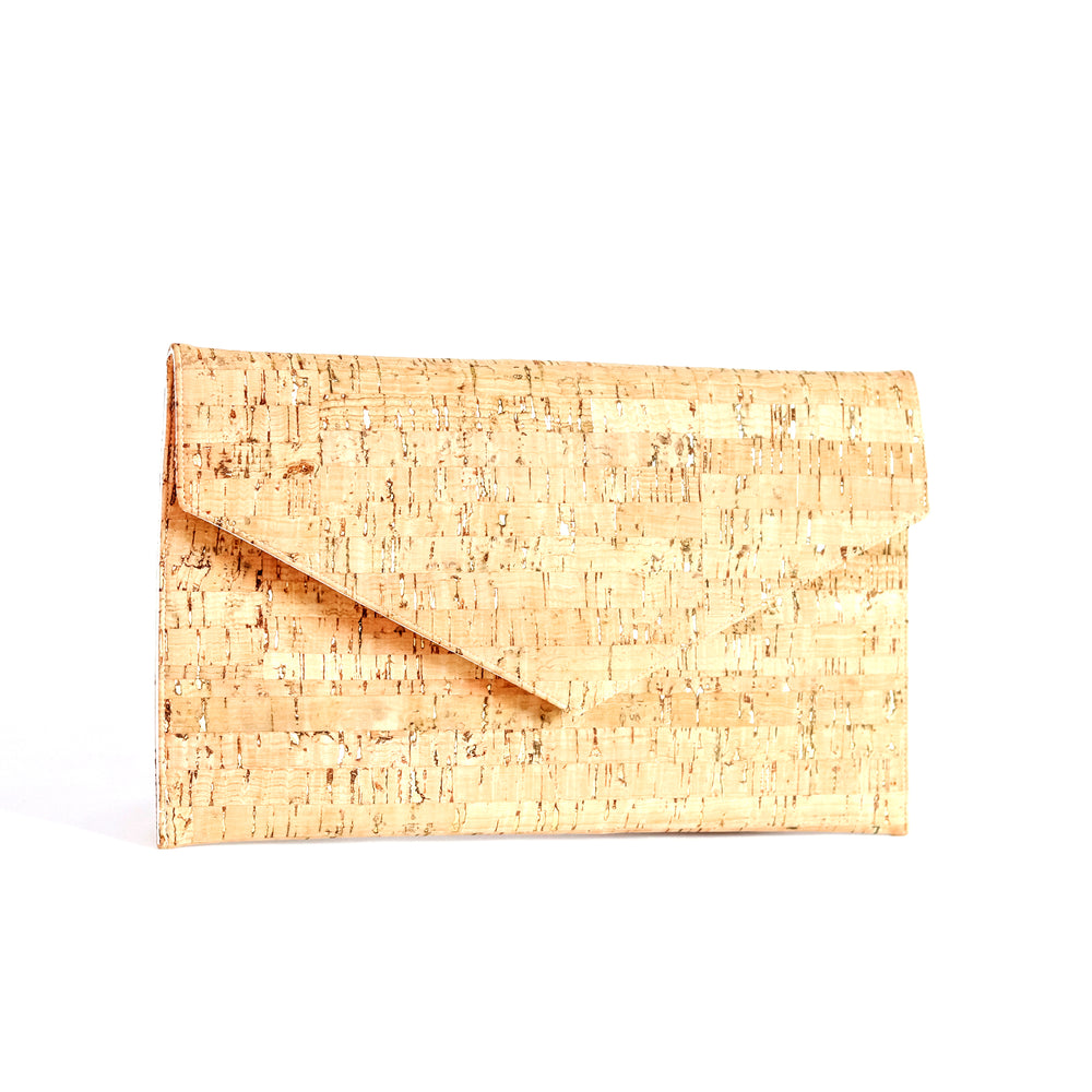 Clutch - Natural Cork with Gold Accents