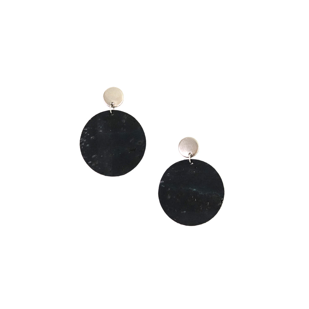 Navy Cork Round Drops