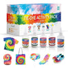 35 Colors Tie Dye Kit DIY Fabric Dye Set, Great for Party, Large Groups, Family Events. 263 Pack Complete with Rubber Bands, Aprons, Gloves and Table Covers for Arts Crafts Projects.