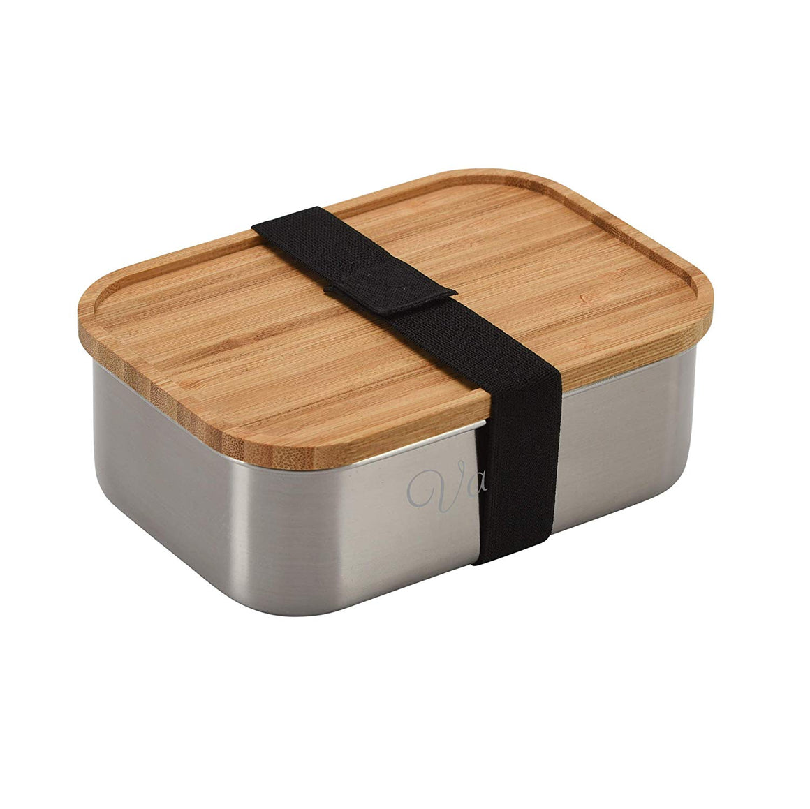 Vanli's Stainless-Steel Bento Lunch Box For Kids With Real Brown Bamboo Lid