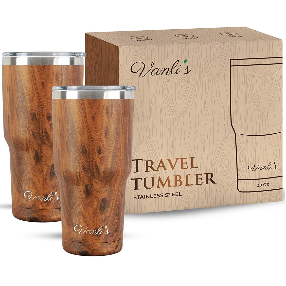 Vanli's Stainless-Steel Insulated Travel Tumbler 30 oz.