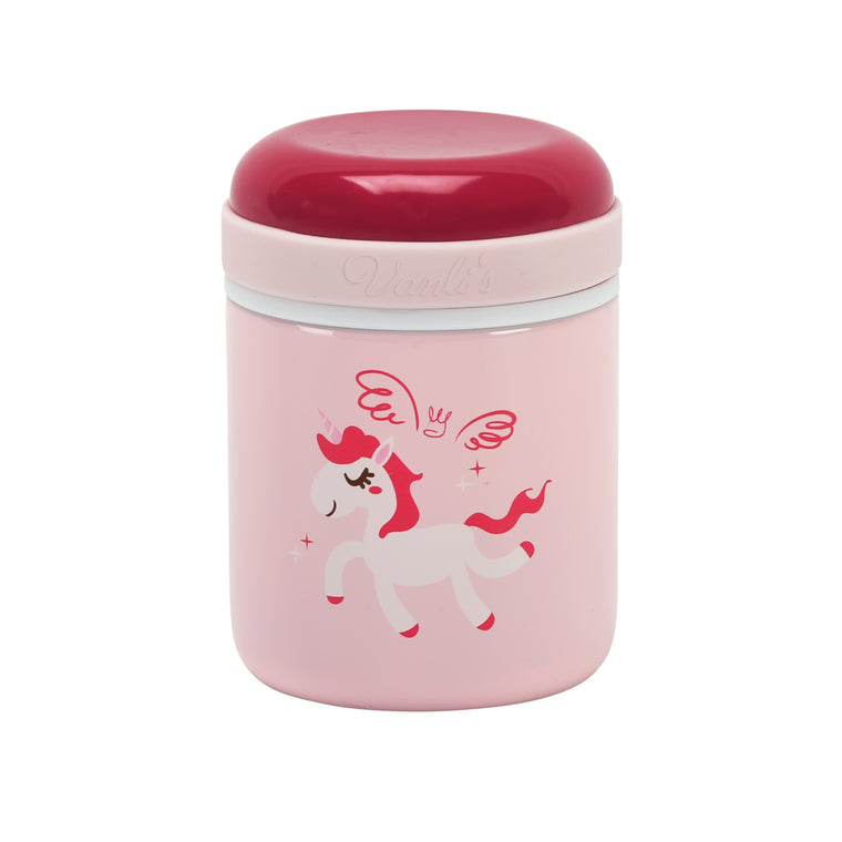 Vanli's Stainless-Steel Thermos Food Jar Pink Unicorn 10 oz