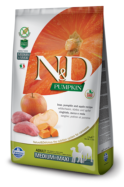 N&D Boar & Apple Adult Medium & Maxi Dry Dog Food - City Paws Pet Club