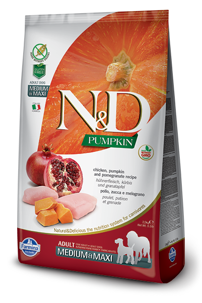 N&D Chicken & Pomegranate Adult Medium & Maxi Dry Dog Food - City Paws Pet Club