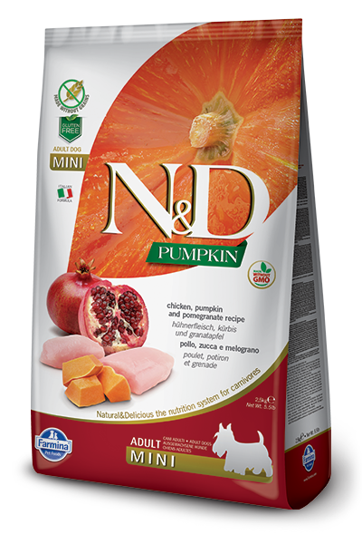 N&D Chicken & Pomegranate Adult Mini Dry Dog Food - City Paws Pet Club
