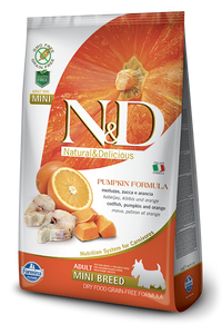 N&D Codfish & Orange Adult Mini Dry Dog Food - City Paws Pet Club