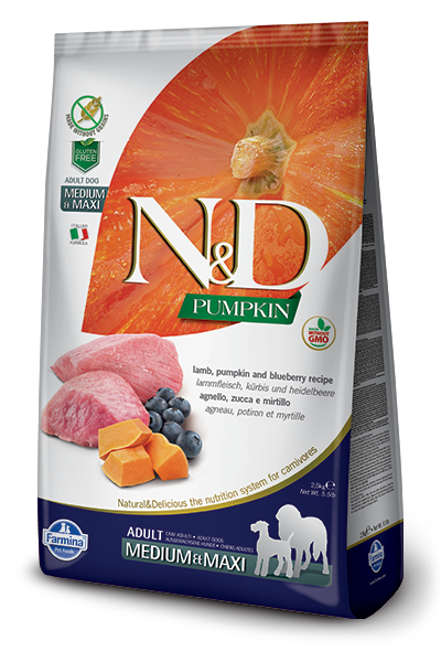 N&D Lamb & Blueberry Adult Medium & Maxi Dry Dog Food - City Paws Pet Club