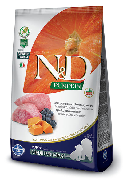 N&D Lamb & Blueberry Puppy Medium & Maxi Dry Dog Food - City Paws Pet Club