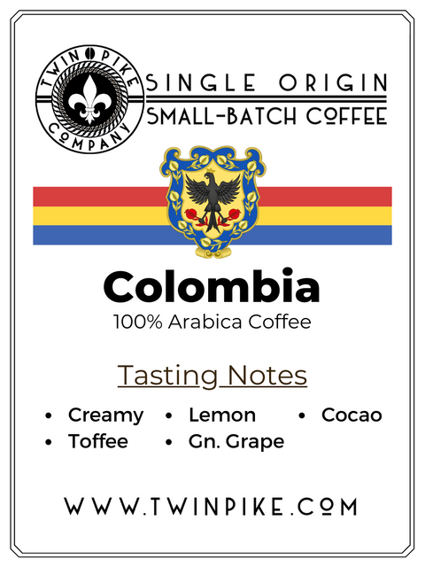 Colombia Single Estate Coffee -  Twin Pike Company