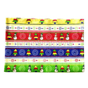 1.6 Yards Christmas Tree Snowman Colorful Cotton Linen Fabric Table Decor #3