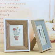 1 Pc 6 Inch Decorative American Double Sided Wooden Photo Frame Picture Frame Rectangle Green Plant Cactus Photograph Frame