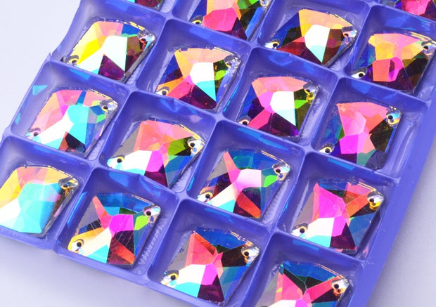 10*14mm 16*21mm Crystal AB Color Sew On Rhinestones Pear Shape Glass Sew-On Stones Flatback Droplet Sewing Strass
