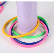 10 Pcs Colorful Hoopla Ring Toss Cast Circle Sets Educational Toy Fashion Puzzle Game For Kids Color: Random Send