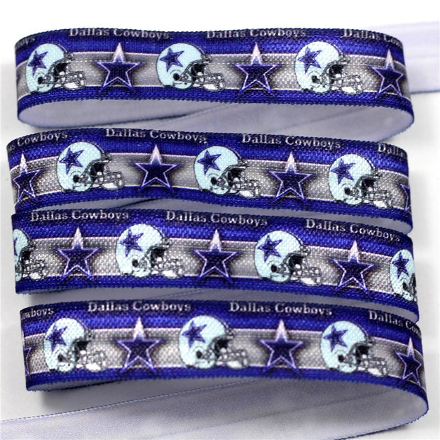 "10 Yards 5/8"" 16mm Football Star Printed Foe Ribbon Elastic Band Waistband Accessories HT01-PG022-04467-"