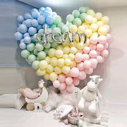 100 PCS 10 Inch Colorful Latex Balloons Romantic Wedding Decoration DIY Birthday Party Children's Day Shop Opening Decoration