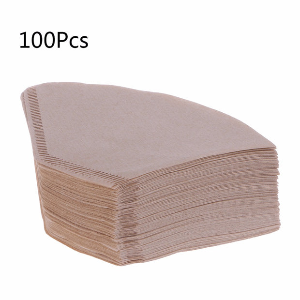 100 Pcs Instant Coffee Filters Disposable Replacements Unbleached Natural Paper