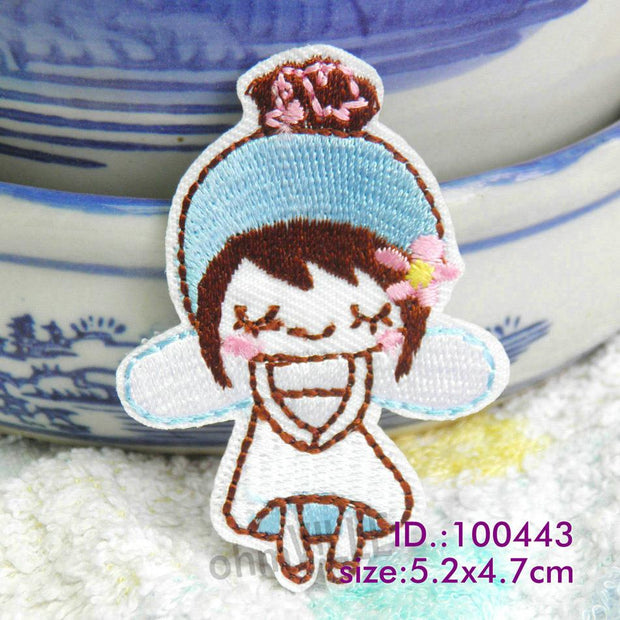 "100443 Blue Angel! Iron-on Patches Made Of Embroidered ""easy To Apply, Just Iron-on"" Guaranteed 100% Quality +free Shipping"