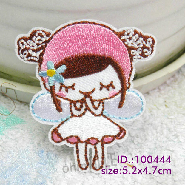 "100444 Pink Angel! Iron-on Patches Made Of Embroidered ""easy To Apply, Just Iron-on"" Guaranteed 100% Quality +free Shipping"