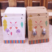 100Pcs NEW Diy Jewelry Display Card 4x5cm Earring Card Hang Tag Card Lion's Head DIY Jewelry Stud Earring Package Cards