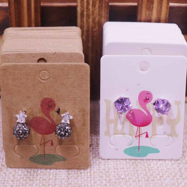 100Pcs NEW Diy Jewelry Display Card Earring 4x5cm Earring Card Hang Tag Card DIY Jewelry Stud Earring Package Cards