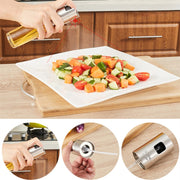 100ml Kitchen Cooking Tools Glass Oil Pump Spray Fine Bottle Olive Can Seasoning Vinegar Stainless Steel BBQ Spraying Bottle