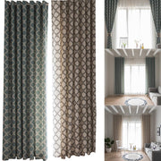 100x280cm Fashion Geometric High Shading Grommet Top Window Curtain Drape Home Decor Cortina