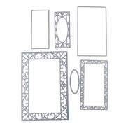 106*155mm Flower Frame Set Metal Carbon Steel Cutting Dies 3D DIY Scrapbooking Craft Die Photo Invitation Cards Decoration