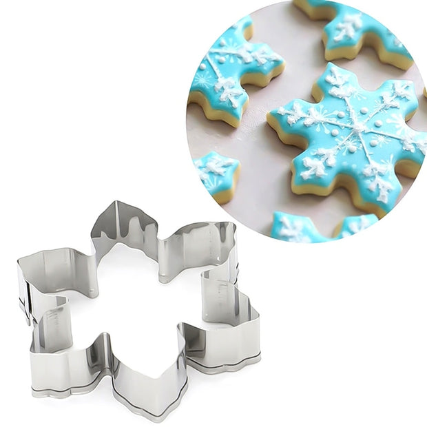 10PCS/Set Stainless Steel Bakeware Moulds Christmas Tree Series Home Kitchen DIY Biscuit Cutter Dessert Cake Decoration Tools