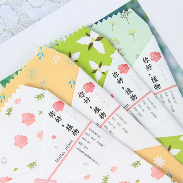 10pack/lot Sweet Rural Hello Plant Envelope Letter Pad Set Writing Paper For School Office Supplies Party Invitation