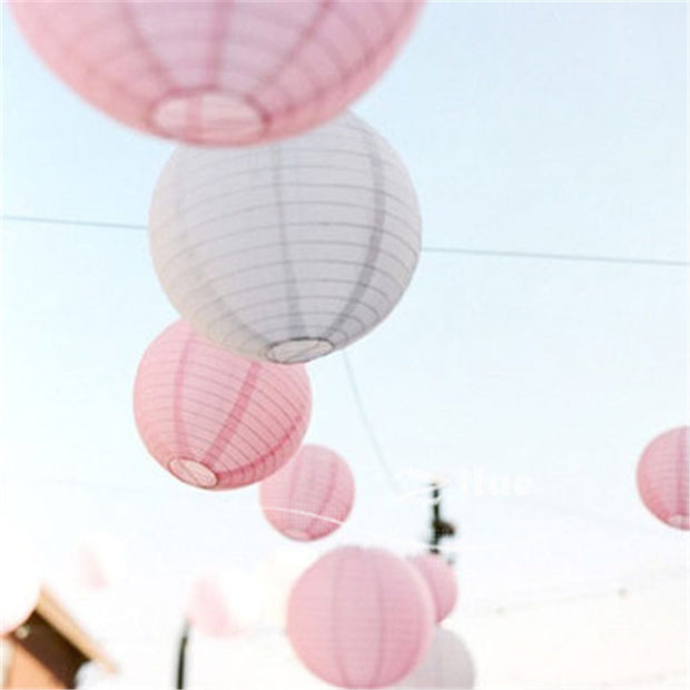 10pcs/lot 6''(15cm) Multicolor Chinese Round Paper Lanterns For Wedding Boda Baby Shower Party Supplies Home Decor Hanging Ball